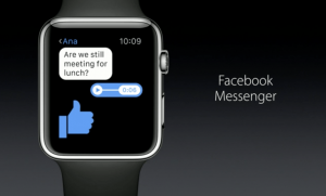 Launched – Facebook Messenger App For Apple Watch