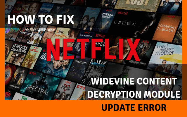 Widevine Content Decryption Module Update Error Chrome, Firefox