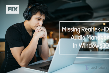 how to fix missing realtek hd audio manager in windows 10
